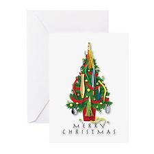 Christmas Tree Greeting Cards Sea (Pk of 10)