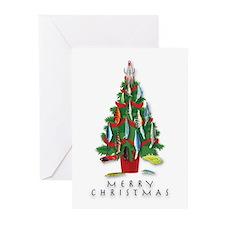 Christmas Tree Greeting Cards Plugs (Pk of 10)