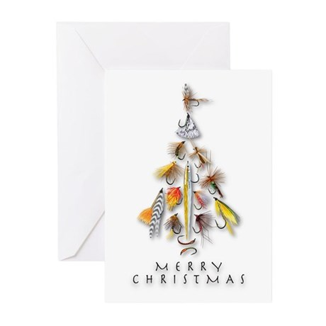 Christmas Greeting Cards Flies(pk Of 10)