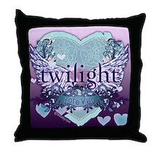 Twilight Forever Aqua Throw Pillow