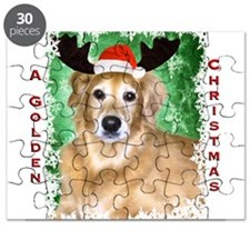 Golden Christmas with Antlers Puzzle