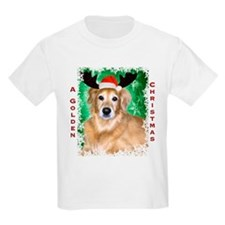 Golden Christmas with Antlers T-Shirt
