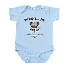 Protected By Pug Onesie