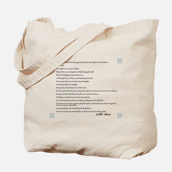 Kahlil Gibran Quote Tote Bag