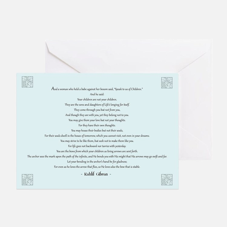 Kahlil Gibran Quote Greeting Card
