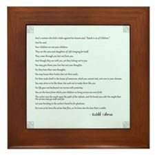 Kahlil Gibran Quote Framed Tile