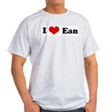 I Love Ean Ash Grey T-Shirt