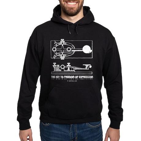 HamTees.com Morse Key Hoodie (dark)