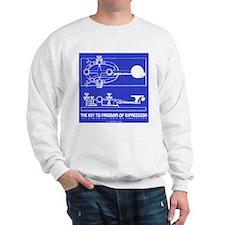 HamTees.com Morse Key Sweatshirt