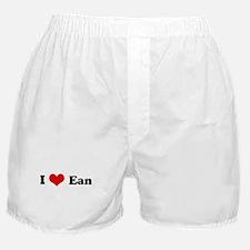 I Love Ean Boxer Shorts