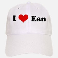 I Love Ean Baseball Baseball Cap