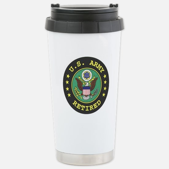 us army retired Stainless Steel Travel Mug