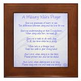 Military wife prayer Framed Tiles