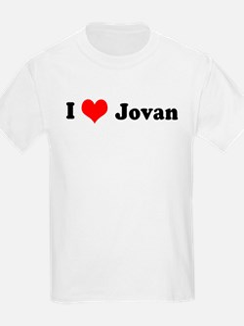 I Love Jovan Kids T-Shirt
