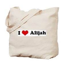 I Love Alijah Tote Bag
