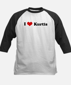 I Love Kurtis Kids Baseball Jersey