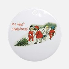 My First Christmas! Ornament (Round)