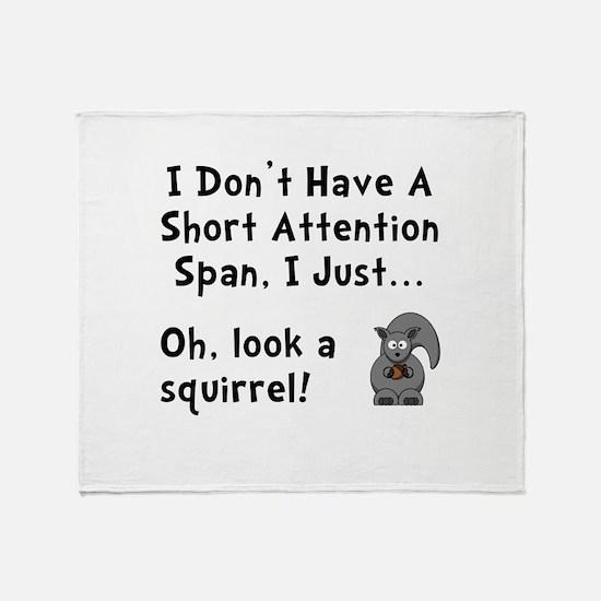 Short Attention Throw Blanket