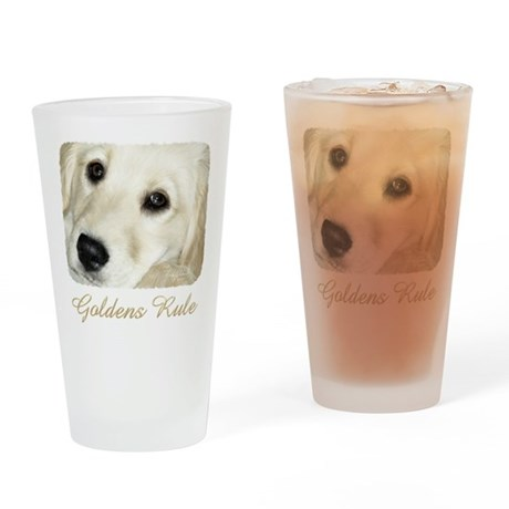 Goldens Rule Drinking Glass