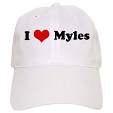 I Love Myles Baseball Cap