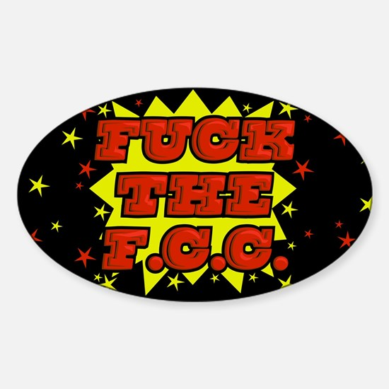 F the FCC Sticker (Oval)
