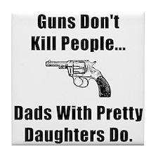Dad Gun Tile Coaster
