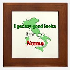 I got my good looks from my Nonna Framed Tile