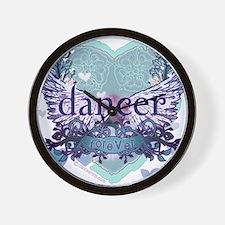 dancer forever by DanceShirts.com Wall Clock