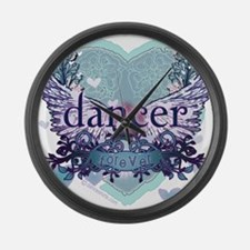 dancer forever by DanceShirts.com Large Wall Clock