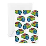Brain Maze Greeting Card