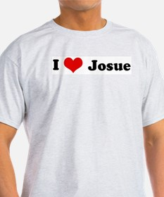 I Love Josue Ash Grey T-Shirt