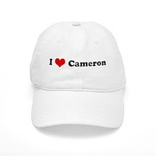 I Love Cameron Baseball Cap