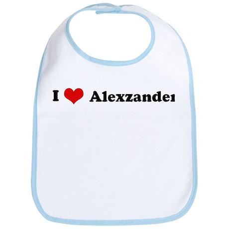 I Love Alexzander Bib
