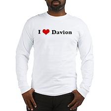 I Love Davion Long Sleeve T-Shirt