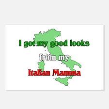 I got my good looks from my Italian mamma. Postcar