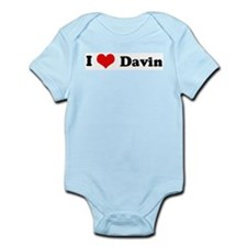 I Love Davin Infant Creeper