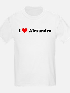 I Love Alexandro Kids T-Shirt