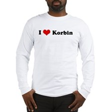 I Love Korbin Long Sleeve T-Shirt