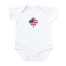 Canadian-American Half-Breed Infant Bodysuit