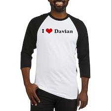 I Love Davian Baseball Jersey