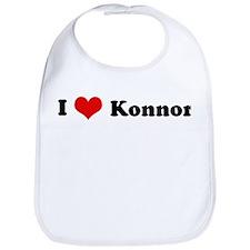 I Love Konnor Bib