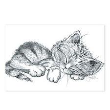 Sleeping Kitten Postcards (Package of 8)