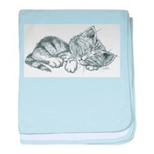 Sleeping Kitten baby blanket