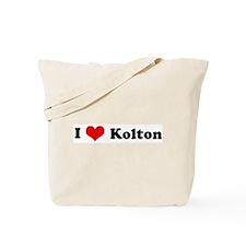 I Love Kolton Tote Bag
