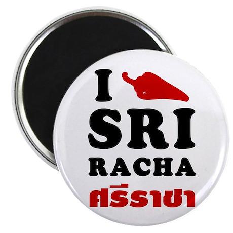 I Love Sriracha Magnet