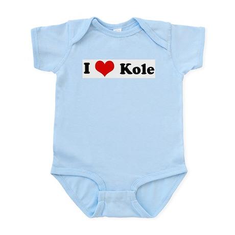 I Love Kole Infant Creeper