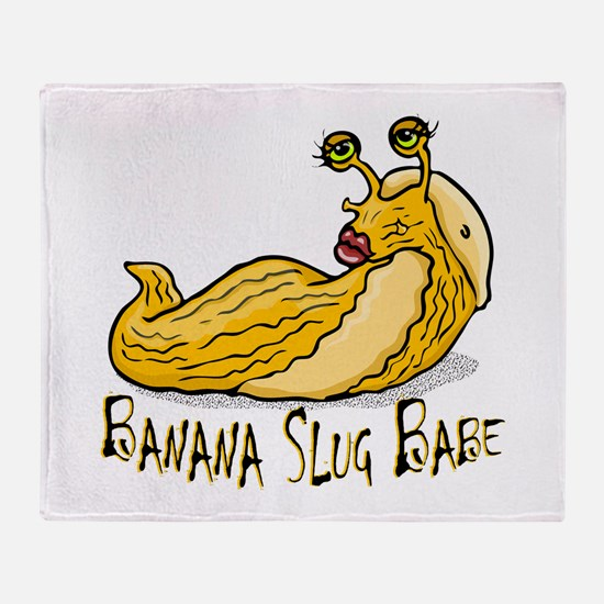 Banana Slug Babe Throw Blanket