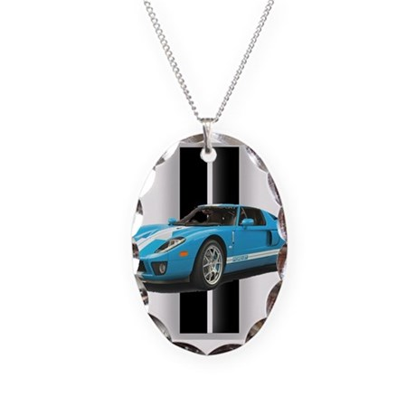 New Racing Car Necklace Oval Charm