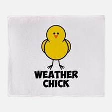 Weather Chick Throw Blanket