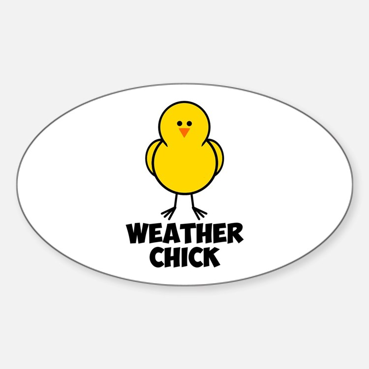 Weather Chick Sticker (Oval)